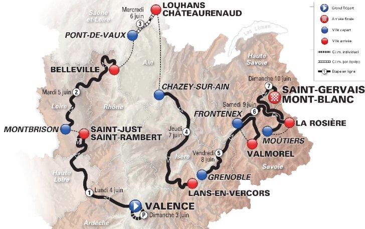 Crit\u00e9rium du Dauphin\u00e9 2020 : Un parcours tr\u00e8s montagneux