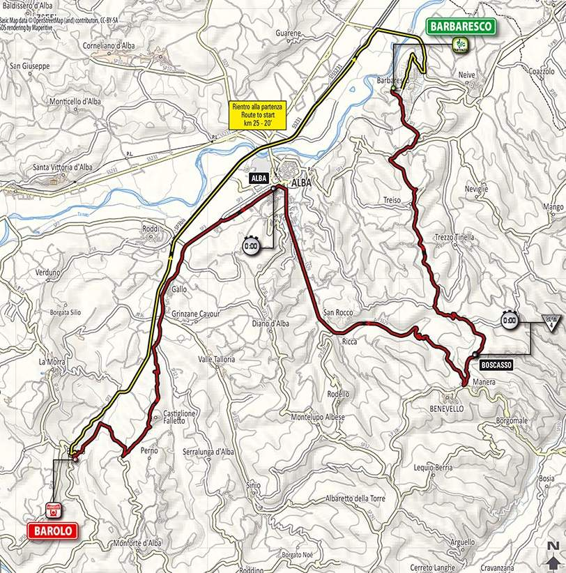 Giro 2014 Route Stage 12 Barbaresco Barolo