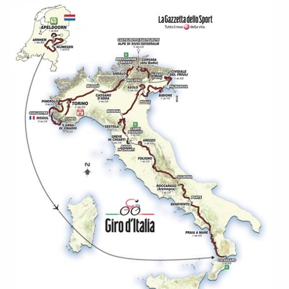 virallinen kauneus laatu Giro 2016: Route and stages