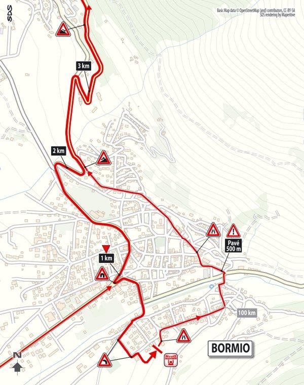 Bormio Italy Map.Giro 2017 Route Stage 16 Rovetta Bormio