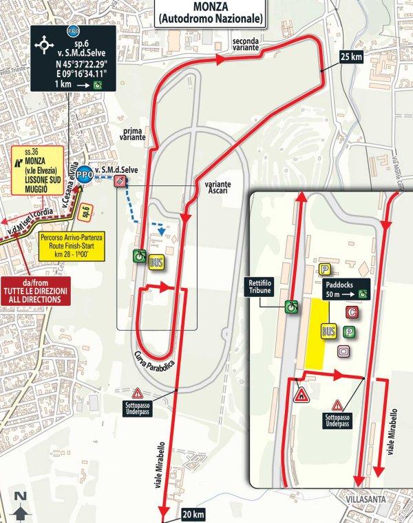 Giro 2017 Route stage 21 Monza Milan
