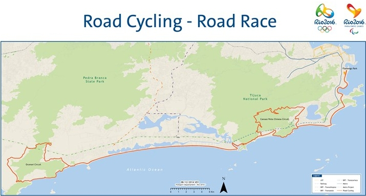 Summer Olympics 2016 Rio Route road race men