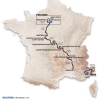 Paris-Nice 2015: Route and stages - source: GeoAtlas