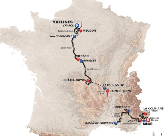 Sisteron France Map.Paris Nice 2018 Route Stage 5 Salon De Provence Sisteron