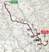 Tirreno-Adriatico 2014 Route stage 4: Indicatore - Cittareale (Selva Rotonda)