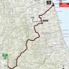 Tirreno-Adriatico 2015: Route stage 6: Rieti – Porto Sant'Elpidio - source: gazetta.it