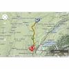 Tour de France 2014 Route stage 11: Besançon - Oyonnax - source: woosmap.com / ASO