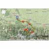 Tour de France 2014 Route stage 18: Pau- Hautacam - source: woosmap.com / ASO