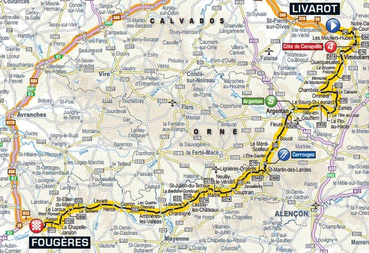 Tour de France 2015 Route stage 7: Livarot