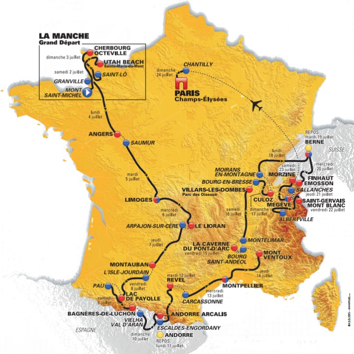 Tour de France 2016: Route and stages
