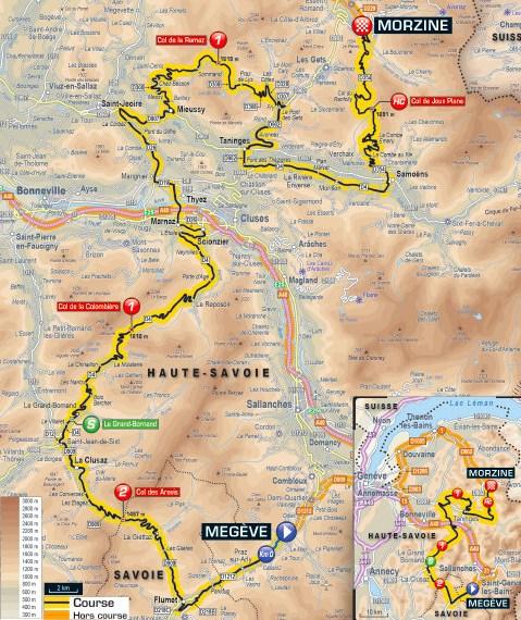 Tour de France 2016 Route stage 20 Megve Morzine