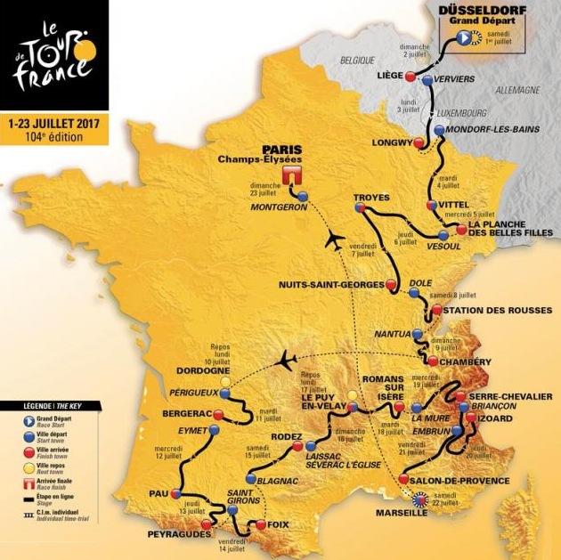 Tour De France Route Map Stage
