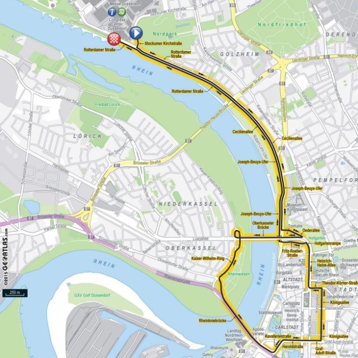 Tour De France 2017 Route Stage 1 Itt In Düsseldorf Ger
