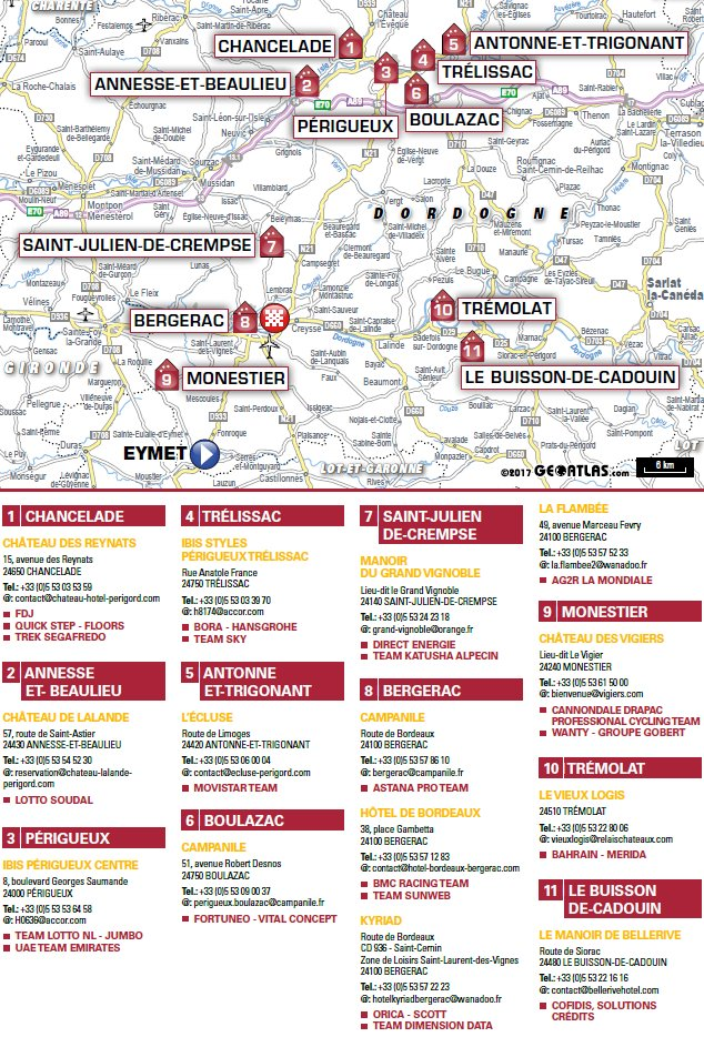 tour de france 2017 route stage 10: périgueux - bergerac