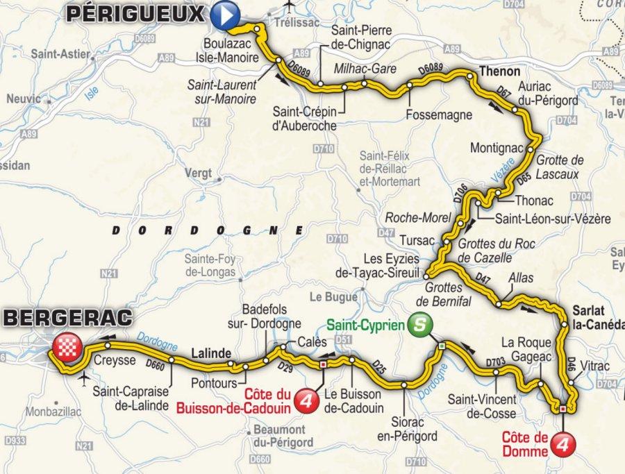 Tour de France 2017 Route stage 10 Prigueux  Bergerac