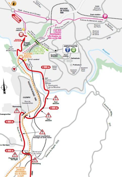 Tour de France 2017 Route stage 14 Blagnac Rodez