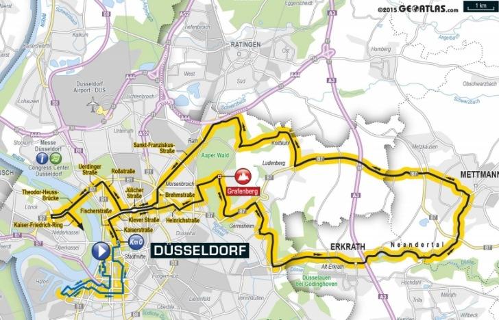 Tour De France 2017 Route Stage 2 Düsseldorf Ger Liège Bel