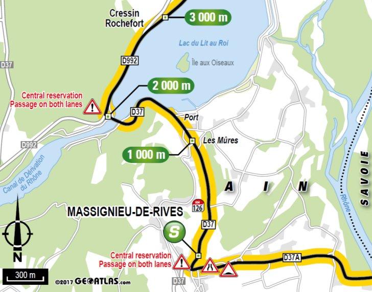tour de france 2017 route stage 9: nantua - chambery