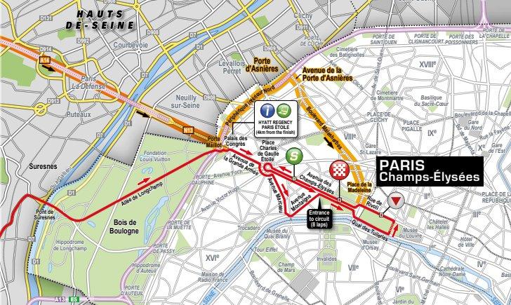 Tour de France 2018 Route stage 21 Houilles Paris
