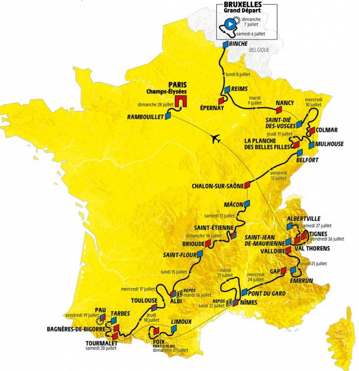 Le Tour De France 2019 Tour de France 2019: Route and stages