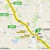 Tour de France 2020: route intermediate sprint 12th stage - source:letour.fr