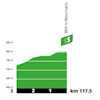 Tour de France 2020: profile intermediate sprint 19th stage - source:letour.fr