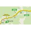 Tour de France 2021: intermediate sprint route stage 15 - source:letour.fr
