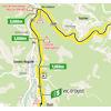 Tour de France 2021: intermediate sprint route stage 16 - source:letour.fr