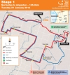 Tour Down Under 2014 Stage 1: The route from Nuriootpa to Angaston, 135 kilometers