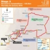 Tour Down Under 2014 Stage 3: De route from Norwood to Campbelltown, 145,0 kilometers