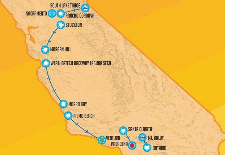 Tour Of California 2020 Route Tour of California 2019