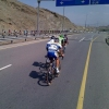 Tour of Oman 2014 stage 3: After 50 km, the leaders see the bunch - source www.tourofoman.om