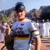 Tour of Oman 2014 stage 3: André Greipel is happy after his victory - source www.tourofoman.om
