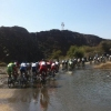Tour of Oman 2014 stage 5: At 30 degrees Celsius a refreshing moment for the pack - source www.tourofoman.om