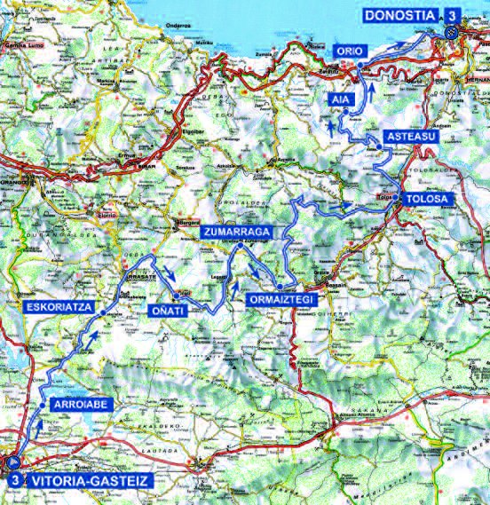 Tour of the Basque Country 2017 Route stage 3 VitoriaGasteiz San