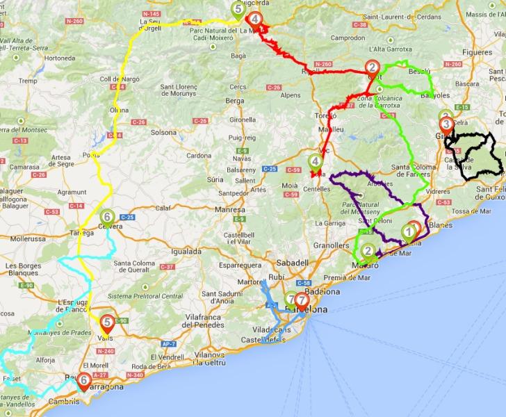 Volta a Catalunya 2015: The Route
