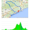 Volta a Catalunya 2015 stage 1 Calella-Calella: Route and profile - source: www.voltacatalunya.cat