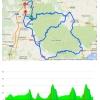 Volta a Catalunya 2015 stage 3 Girona-Girona: Route and profile - source www.voltacatalunya.cat