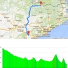 Volta a Catalunya 2015 stage 5 Alp - Valls : Route and profile - source: www.voltacatalunya.cat