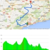 Volta a Catalunya 2015 stage 6 Cervera - Port Aventura: Route and profile - source www.voltacatalunya.cat