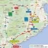 Volta a Catalunya 2016 Route stage 2: Mataró - Olot - source: www.voltacatalunya.cat