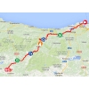 Vuelta 2014 Route stage 14: Santander – La Camperona - source IGN - lavuelta.com