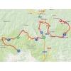 Vuelta 2014 Route stage 16: San Martín del Rey Aurelio - Lagos de Somiedo - source IGN - lavuelta.com