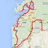Vuelta 2014 Route stage 19: Salvaterra de Miño – Cangas do Morrazo - source IGN - lavuelta.com