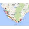 Vuelta 2014 Route stage 2: Algeciras - San Fernando - source IGN - lavuelta.com