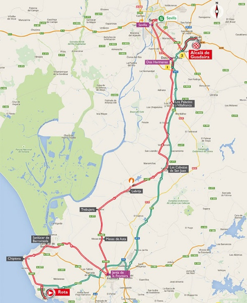 Vuelta 2015 Route stage 5: Rota