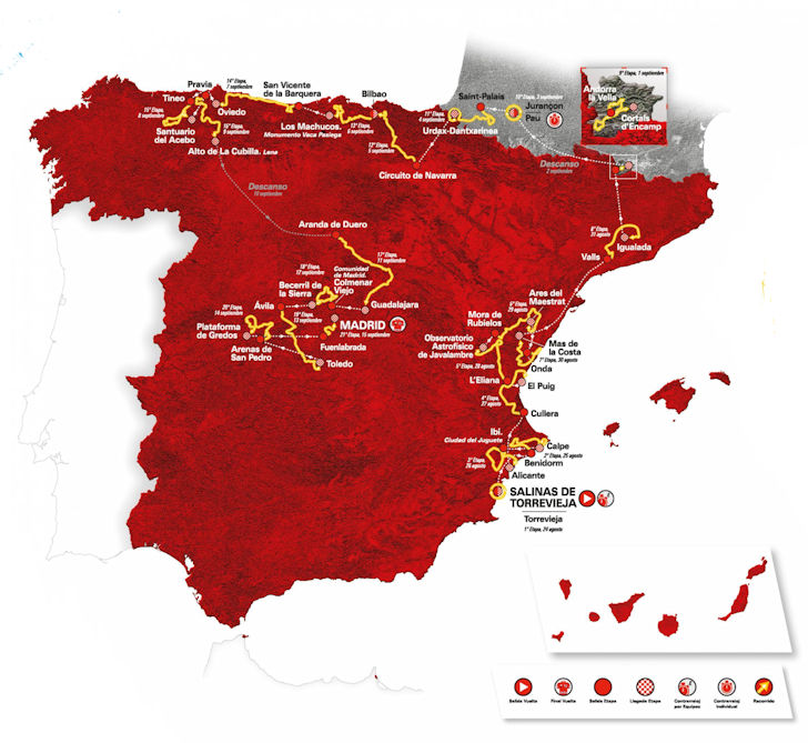 Vuelta 2019 Route And Stages