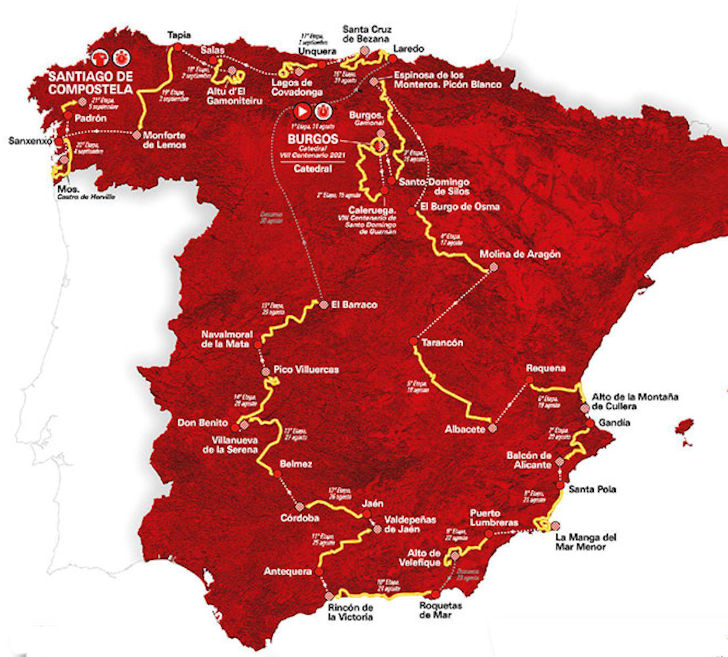 etappeschema vuelta 2021