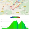 World Cycling Championships Ponferrada: Profile and route - source: strava.com